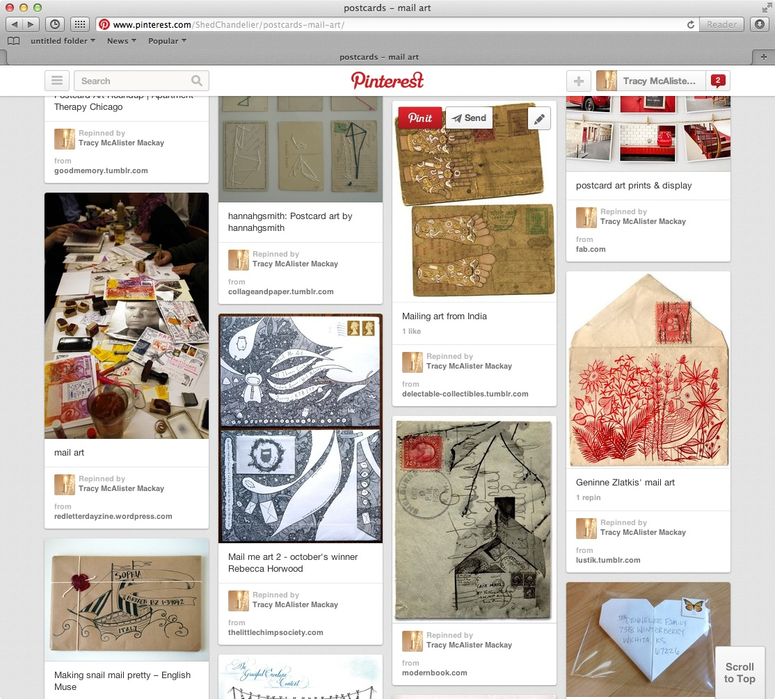 pinterest postcard examples copy