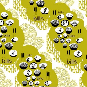Bills, Australia: digital print on silk - Lulu Horsfield
